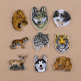 $enCountryForm.capitalKeyWord NZ - Embroidery Large Deer Wolf Leopard Tiger Dog animal Patches Embroidery Applique Patch jacket DIY Fashion Embroidery patches for clothing Fab