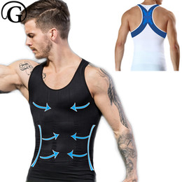 f8075ceff1 Male Abdomen waist tummy Trainer Belly Slim Fit Body Shaper Back Cross Tops  Men Gynecomastia Vest Chest Binder Posture Corset