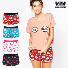 ef8b449576 PINK HEROES Women Underwear Panties Fashion Cartoon Printing Home Women Underwear  Cotton Plain Weave Pants Sexy Panties Boy Shorts 608