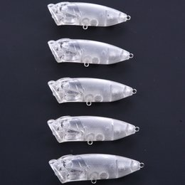 Blank Fishing Lure Bodies Australia - 7cm 10g Popper Blank Transparent Lures Bodies Walking Bait Fishing Lure Top Water Unpainted Poper Topwater for Saltwater Freshwater