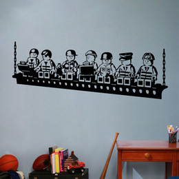 Funny Cartoon Robots Lego Vinyl Wall Sticker Boys Room Wall Art Decals Decor & Lego Wall Stickers Australia | New Featured Lego Wall Stickers at ...