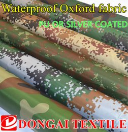 Camouflage Cars NZ - wide 150cm camouflage Oxford fabric printed silver or PU waterproof cloth outdoor tents,Car cover fabric sunshade