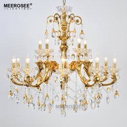 large foyer chandeliers 2019 - Large Foyer Modern Chandelier Candle Crystal Chandelier Fixture lighting lamparas de techo Suspension Restaurant Hanging