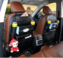 Color Leather Bags Australia - 5 Color Multi Function Car Seat Back Organizer Pockets Storage Bags For Cellphone Water PAD Tissue Small Things