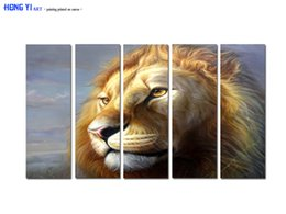 Digital Art For Sale NZ - Large Contemporary Hot Sale Art Wall Animal Lion Head oil painting Picture Printed on canvas for Living Room Bedroom Home Decor Aset168