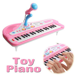 37 keys NZ - 37 Keys Electone Mini Electronic Keyboard Musical Toy with Microphone Educational Electronic Piano Toy for Children Kids Babies