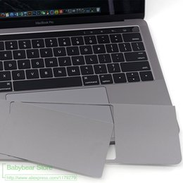 wholesale laptops stickers 2019 - Grey Color New Trackpad Palm Guard wrist Protector Sticker For Retina MacBook 12 13 15 Pro with Touch bar A1706 1707 A17