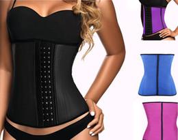 Wholesale 100 Latex Waist Trainer Corset Steel Bone Shapewear Hot Body Shapers Women Corset Slimming Belt Waist Shaper Cinta Modeladora