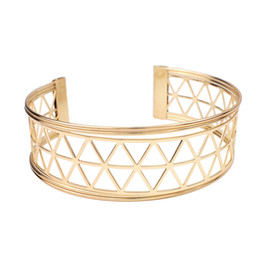 Wholesale Metal Chokers UK - Punk Alloy Big Torques Necklaces Women 2018 Fashion Gold Color Metal Collar Statement Choker Necklaces Maxi Jewelry UKEN