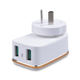 Chinese  Xiaobai mobile phone charger multi-port 2USB can change the foot charging head British standard power adapter manufacturers low-cost direct manufacturers