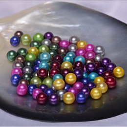 Genuine Loose Pearl NZ - 50pcs lot 6-7mm Multicolor Natural Round Loose Freshwater Pearl Beads Dyed Brilliant Genuine Pearl Beads Undrilled FP059