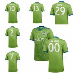 ce2519ffebd FC Seattle Sounders Soccer 2 Clint Dempsey Jersey Men Team Green 7 Cristian  Roldan 13 Nicolas Lodeiro 29 Roman Torres Football Shirt Kits