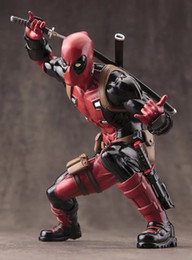 Discount x men movie action figures 20cm X-Men Movie Deadpool ARTFX Hero Statue Marvel Action Figure Model Toys Dolls Anime Cartoon collection gift Electron