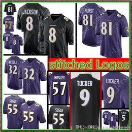 a739d0354 Baltimore Ravens 8 Lamar Jackson 81 Hayden Hurst Jersey Mens 9 Justin  Tucker 5 Joe Flacco Perriman 32 Eric Weddle 55 Suggs Jerseys