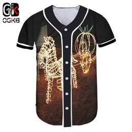 Ladies Christmas T Shirts NZ - OGKB The New Listing Christmas Wholesale Baseball Shitr 5XL Lady Casual Pumpkin 3D Printed Carriage T-shirt