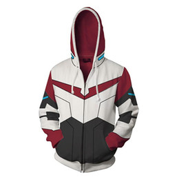 China Mens Cardigan Coat Hooded Hoodies Voltron Patchwork Print Sweatshirts Women Contrast Color Cosplay Costume Hoodies Lovers Sweatshirt S-5XL cheap women costumes suppliers