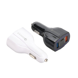 Usb car charger packed online shopping - Car Charger Quick Charge Dual USB Car Charger with Type C Port Phone Charger For iphone Samsung Huawei with Retail Packing
