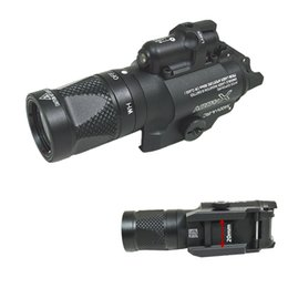 Wholesale Tactical X400V flashlight Light Combo Red Laser Constant Momentary Strobe Output Torch