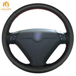 Genuine Leather Steer Covers Australia - Custom MEWANT Black Genuine Leather Car Steering Wheel Cover for Volvo S80 2004 2005 XC70 2004-2007