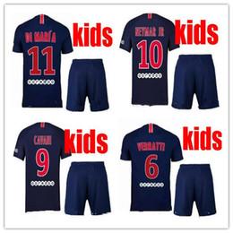 4a45a2a1a9a 2018 france kids survetement verratti cavani psg soccer jersey 18 19  maillot de foot di maria paris Mbappe NEYMAR JR FOOTBALL shirt KIT