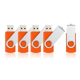 64 Gb Flash Drive Australia - Orange 5PCS LOT 1G 2G 4G 8G 16G 32G 64G Rotating USB Flash Drives Flash Pen Drive High Speed Memory Stick Storage for PC Laptop Macbook