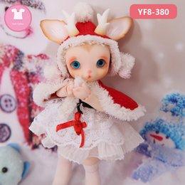 Vente en gros BJD Vêtements 1/8 Corps De Poupée Mignon Mini Robe Costume Belle Fille De Noël Cerf Outfit Poupée Accessoires