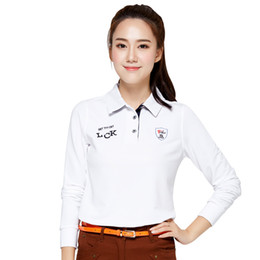 Girls Uniform Shirts Australia - golf shirts long sleeve spring autumn lady golf top shirts women polo shirt turn-down collar uniforms girls SPORTS