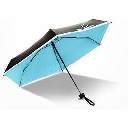 Framed shower online shopping - Mini Creative Folding Portable Umbrella Aluminum Alloy Strong Frame Three Folding Umbrellas For Travel Meteor showers