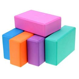 Discount blue foam blocks - 2018 New Women's Yoga Props Exercise Fitness Yoga Block Foam Bricks Expansion Gym Block Foam Brick