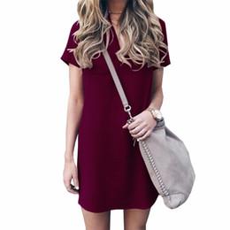 5XL Plus Size Women Dress New 2018 Summer Casual Solid Straight Pencil  Dresses Plus Size Short Sleeve Mini Sundress Pocket GV245 8f95c0b1a88c