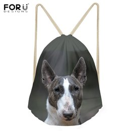 94233483eb10 Bull Bags Canada - FORUDESIGNS Funny 3D Dog Bull Terrier Printing Woman Man  BackpacCasual Travel Beach