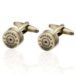 Vintage Stainless Steel Bullet Cufflinks Fit Men Business Wedding Shirt Creative Birthday Xmas Gift For Dad Husband Son Dads Gifts Promotion