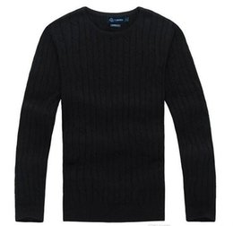 $enCountryForm.capitalKeyWord UK - Free Shipping 2018 New High Quality polo Men's Twisted Needle Sweater Knitted Cotton Round neck Sweater Pullover Sweater Male size S-XXL