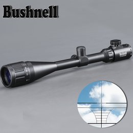Wholesale BUSHNELL 6-24X50 AOE Riflescope Adjustable Green Red Dot Hunting Light Tactical Scope Reticle Optical Sight Scope