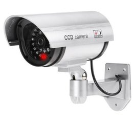 Home security dummy cameras online shopping - Pratical Waterproof Fake Camera Outdoor Dummy Security Camera with Flashing LED Fake CCTV Bullet Camera Light for Home Security