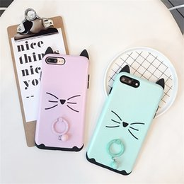 b6546697ad Cute Cartoon Cat Ear With Bell Pendant Phone Case For Iphone X Anti-Shock Phone  Case For Iphone 6 7 8 Plus
