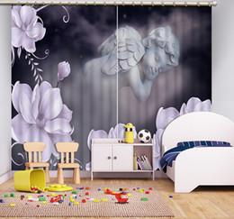Photo Cotton Canada - Euroepan Custom Photo Bedroom Living Room Curtain High-Precision Blackout Polyester Cotton 3D Drapes