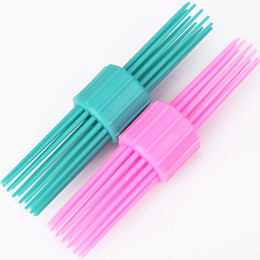 Discount diy hair rollers - 1pcs Vintage Double Head Multi-tooth Hair Curler Roller Large Grip Styling Roller Curlers Hairdressing DIY Tools Styling