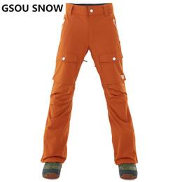 Warm Waterproof Pants Men NZ - GSOU SNOW Brand Ski Pants Men Waterproof Ski Trousers Winter Outdoor Snowboarding Pants Thicken Warm Skiing Snowboarding Male