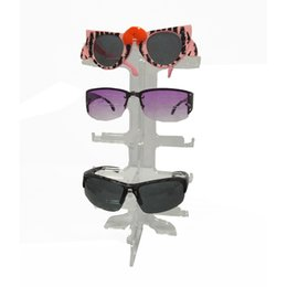 $enCountryForm.capitalKeyWord UK - Wholesale 100Pcs 5 pairs Acrylic Sunglasses Showing Rack Holder 5 Layer Clear Glasses Display Stand Frame Bulk Sale