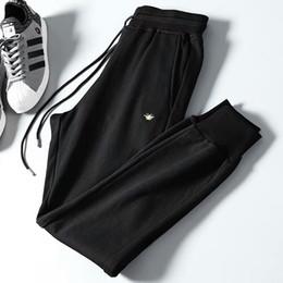 mens full length yoga pants 2018 - 2018 fall new arrival mens designer Bee embroidery sweatpants LUXURY ~ mens luxury yoga joggers track sweat pants