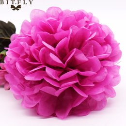 5Pcs 15cm Paper Pom Poms Tissue Handmade DIY Flower Pompom Birthday Party Car Wedding Decorations For Home New Year Gifts