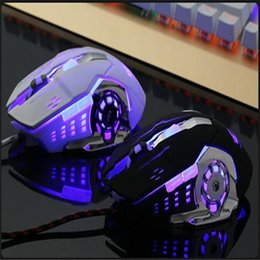 Pc Gamer Computers NZ - Mouse Raton LED Light USB Wired Gaming Mouse Professional Mice Gamer 4000DPI Optical For PC Laptop computer 18Aug8