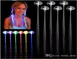 $enCountryForm.capitalKeyWord Australia - Hot Sale Colorful glowing LED Braid Novelty Decoration For Party Holiday Hair Extension By Optical Fiber VC471 P0.4