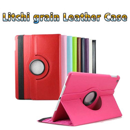 9.7 android tablet online shopping - Litchi grain Pad mini case Leather Case PU Tablet PC case panel computer cover For IOS Android