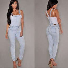 Wholesale denim overalls loose for sale – dress Women Sexy Slim Fit Baggy Loose Jeans Denim Overalls Pants Jumpsuit Rompers