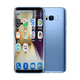 4g Wifi Cell Phones Canada - Goophone S8 plus smartphone 5.8inch 1G 4G Android 6.0 Unlocked can show fake 4G 128 Quad core MTK6580 Cell phone