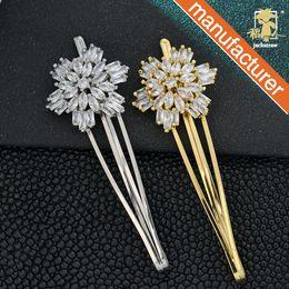 Fabbrica cinese diretto semplice tornante micro intarsiato zircone rocca parola clip fiore sbatte acqua goccia clip di supporto all'ingrosso