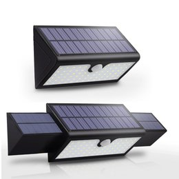 Discount led illumination lamp - 71 LED Solar Lights Outdoor Motion Sensor Solar Wall Lamp with Wide Angle Illumination Waterproof Home Security Light fo