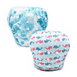 Swimwear Infant Australia - 2Pcs Baby Infant Swim Nappies Reusable Newborn Swimwear Cute Baby Boy Girl Swimsuit Bathing Suit Adjustable Swim Diapers
